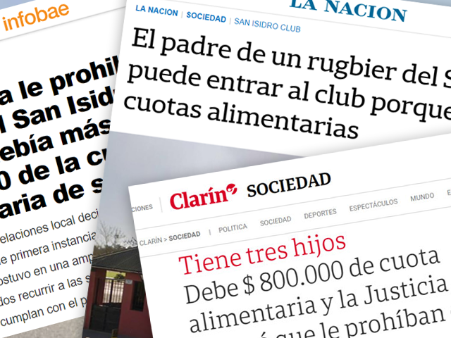 La Justicia le prohibió el ingreso al San Isidro Club porque debía más de $800.000 de la cuota alimentaria de sus hijos